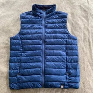 REI Co-op blue puffer vest